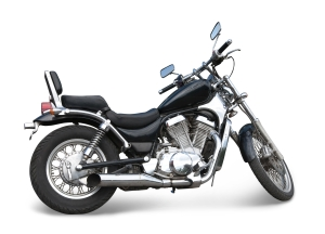 Big black  motorcycle. Isolated with clipping path